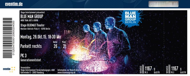 Blue Man Group Berlin Hotel Und Ticket
